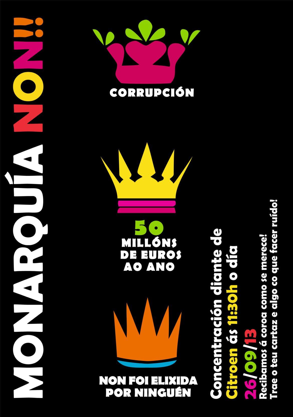 Concentración Monarquía Non!!!