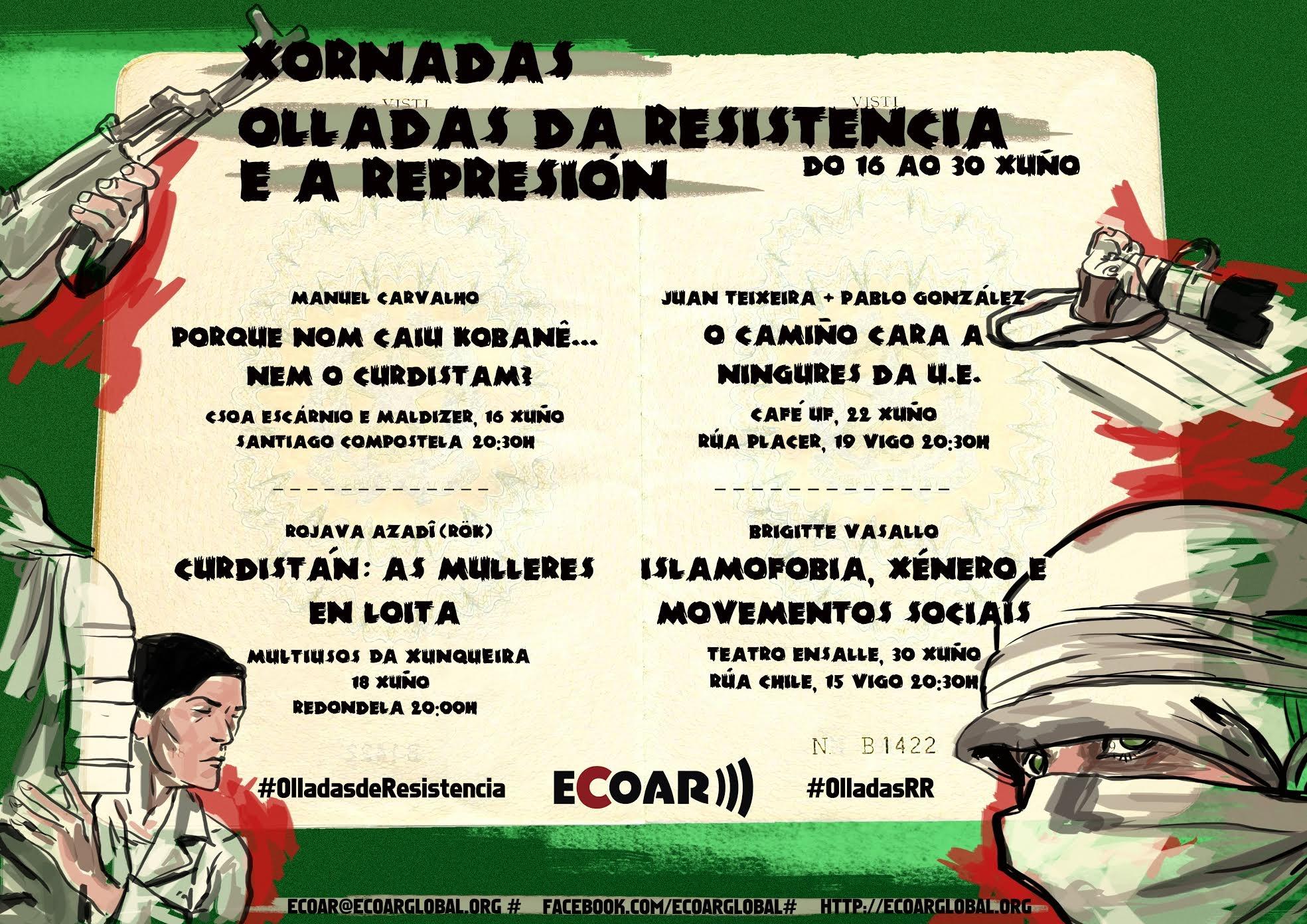 """Arrincan as Xornadas """"Olladas da resistencia e a represión"""""""